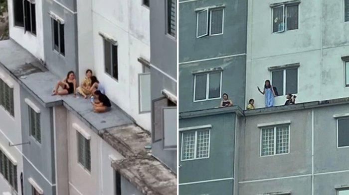 Terekam Video Nongkrong di Balkon Lantai 6, 5 Wanita Langsung Diciduk Polisi