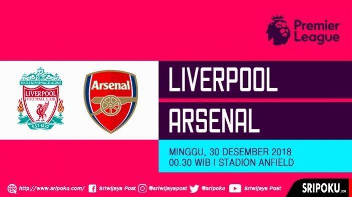 Jadwal Pekan Ketiga Liga Inggris - Liverpool Vs Arsenal Live TVRI