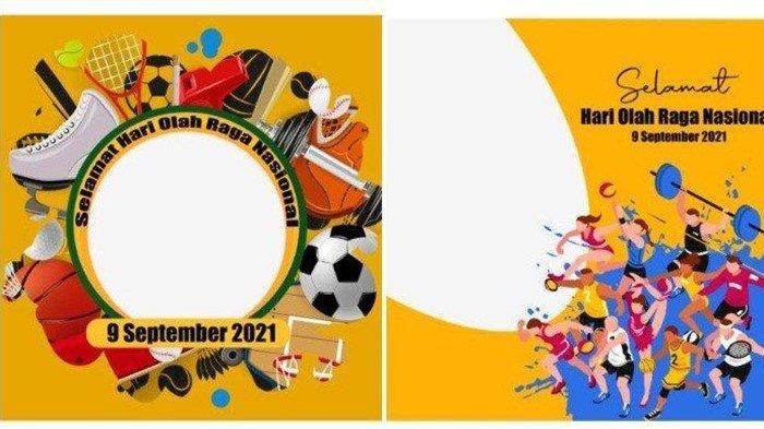 Selamat Hari Olahraga Nasional 2021, Ini Desain Twibbon Haornas 2021 Lengkap, Tema Hingga Logo