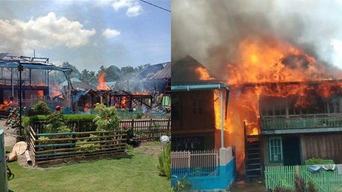 Kebakaran di Desa Karang Tanding Lintang Kanan Empat Lwang, 3 Rumah Hangus 9 Rumah Rusak