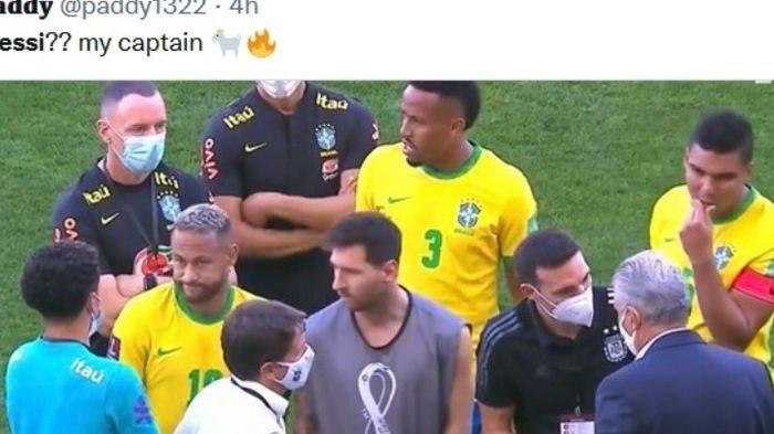Detik-detik Laga Argentina vs Brasil Dihentikan, Langgar Prokes, Lionel Messi: Memalukan