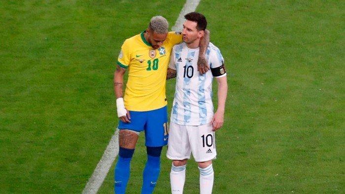 Akhir Duel Lionel Messi dan Neymar, Kompak Sabet Penghargaan Pemain Terbaik Copa America 2021