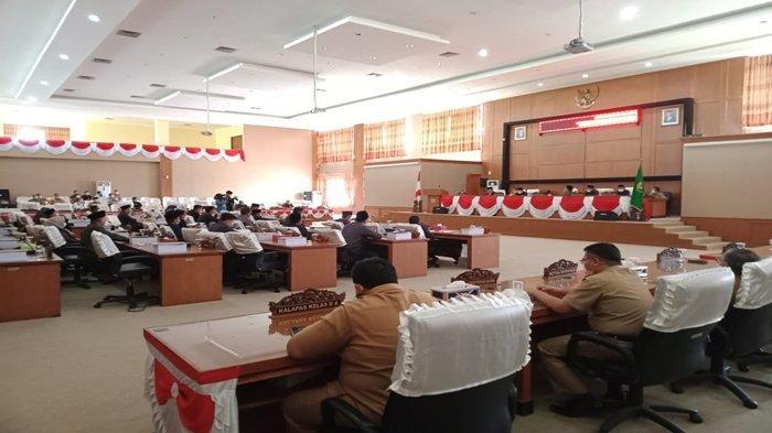 Paripurna LKPJ Bupati Muaraenim 2020 di DPRD Muaraenim Diwarnai Perdebatan Sebelum Diskors