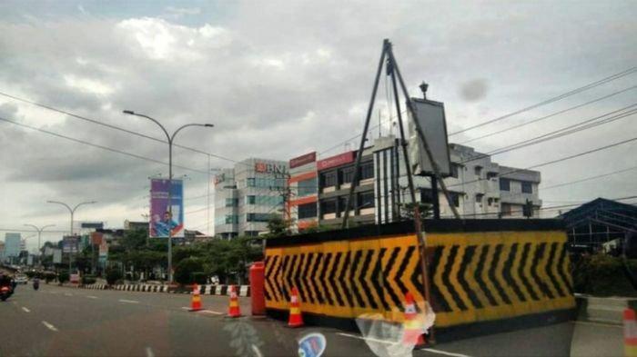 Ukur Struktur Tanah Underpass Charitas, BBPJN V Palembang Pasang 2 Titik Bor Soil Test