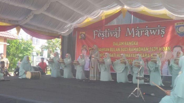 Lestarikan Budaya Bernuansa Islam, Polres OKU Gelar Lomba Marawis dan Rebana
