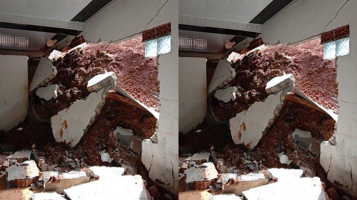 Longsor di Desa Muara Siban Lahat Timpa Dapur Rumah Seorang Warga, Dinding Sampai Jebol