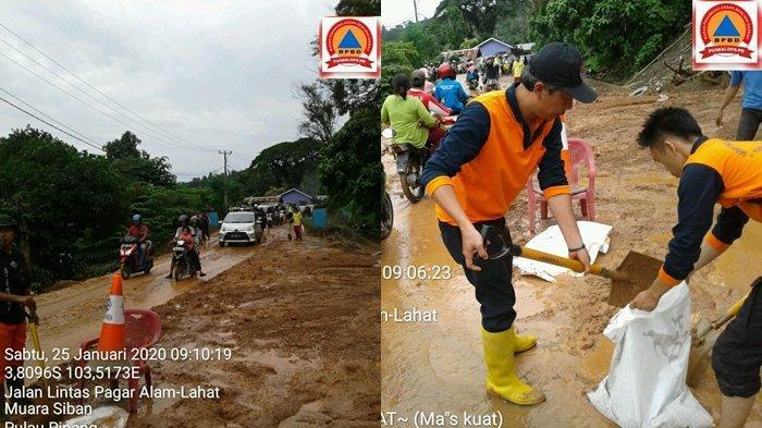 Longsor di Desa Muara Siban Lahat Dipicu Adanya Aktivitas Pembukaan Lahan Perumahan dan Hujan