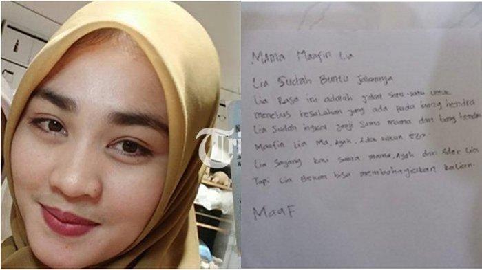 Mahasiswi Asal Aceh Gantung Diri Menjelang Hari Pernikahannya, Surat Terakhirnya Viral di Medsos