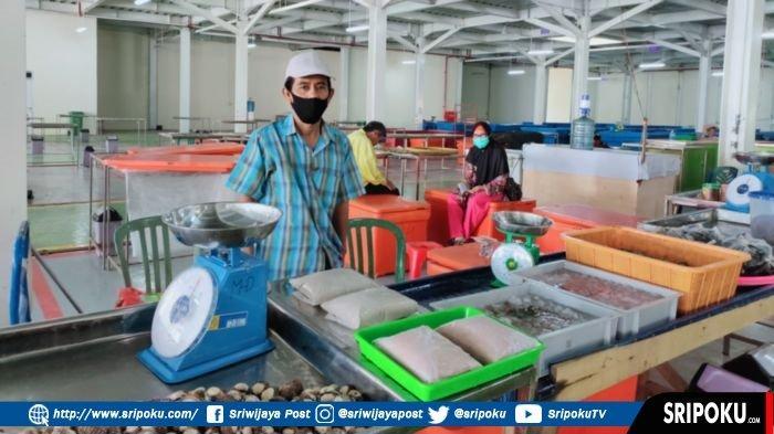 SEPI! Hanya Ada 15 Pedagang, Itulah Kondisi Pasar Ikan Modern Palembang, 'Ikan 5 Kg Dak Habis'