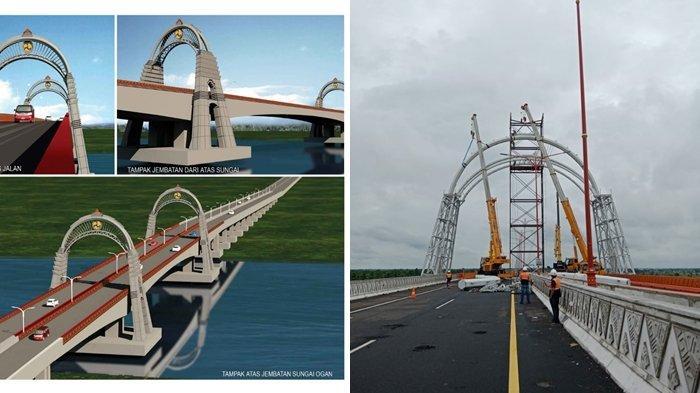 Gerbang Tol Keramasan Tol Kayuagung-Palembang Segera Dipermanenkan, Bakal Dipasang Ornamen Gapura