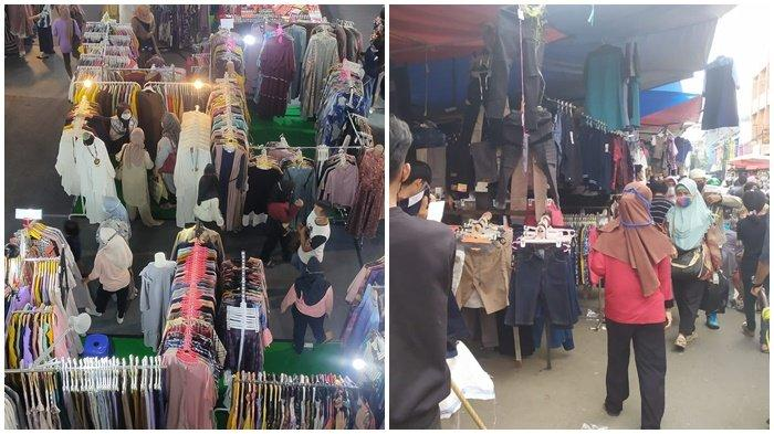 PASAR 16 Ilir dan Mal-mal di Palembang Mulai Diserbu Warga, Pembeli dan Penjual Jalani Prokes Ketat