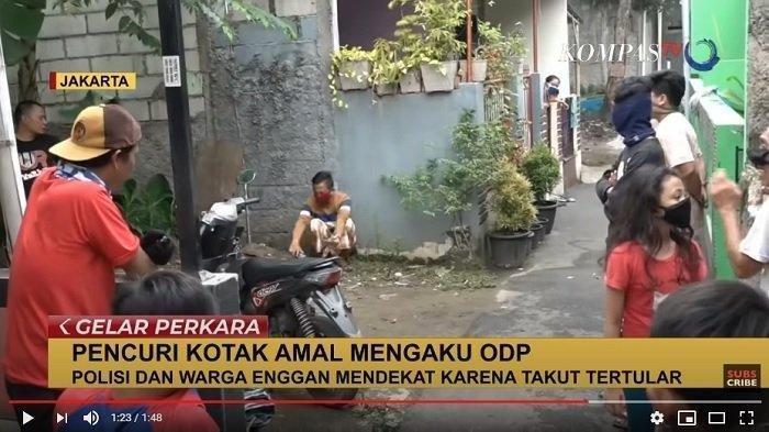 KEPERGOK Curi Kotak Amal, Pria Ini Tiba-tiba Mengaku ODP, Warga dan Polisi tak Berani Mendekat