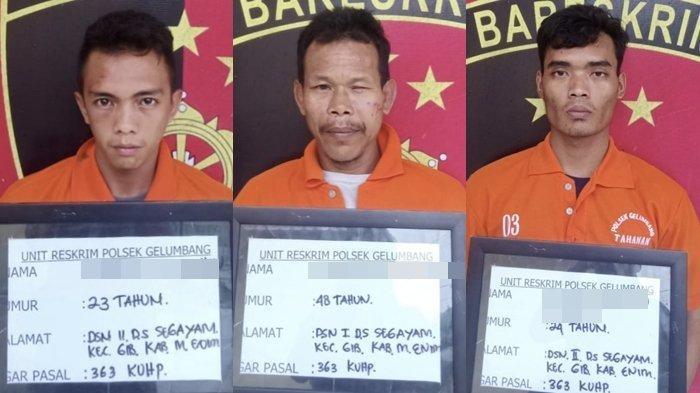 Pencuri Besi di Desa Segayam Muaraenim Ternyata 3 Warganya Sendiri, Wiranto Cs Kepergok Saat Beraksi