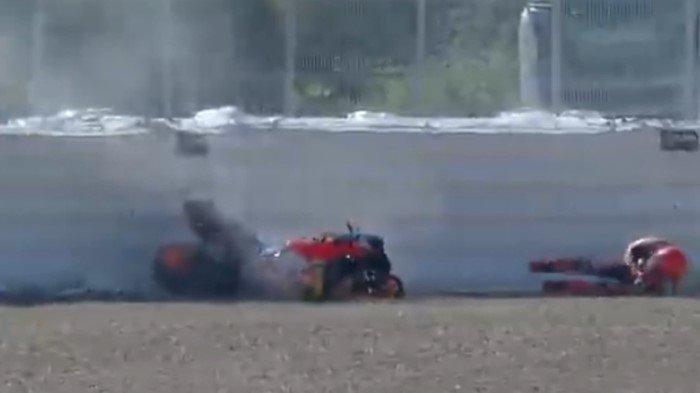 MIMPI BURUK Marc Marquez di Jerez Kembali Terulang: Tabrak Pembatas Sirkuit, Ini Detik-detik Insiden