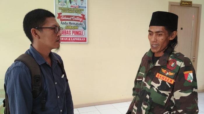 Anggota Banser Asal Muratara Ini Ingin Pergi ke Jakarta dengan Jalan kaki Menemui Presiden Jokowi