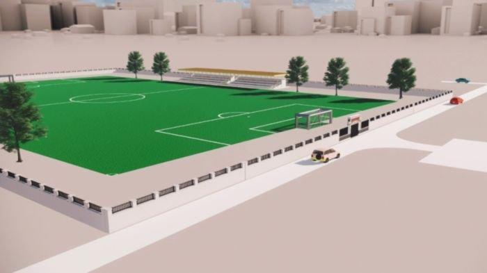 Master Plan Lapangan Sepak Bola Saringan Muaraenim