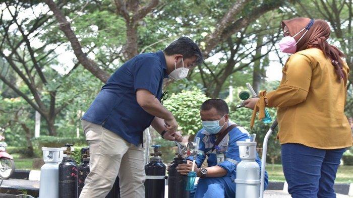 PUSRI Dirikan Posko Oksigen Gratis untuk Masyarakat