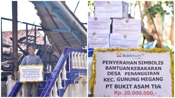 Mawi (50) warga Dusun VI Desa Penanggiran Kecamatan Gunung Megang Kabupaten Muara Enim Provinsi Sumatera Selatan, telah mendapatkan bantuan dari PTBA sebesar Rp 20 juta dan sembako, Senin (27/9/2021) kemarin.
