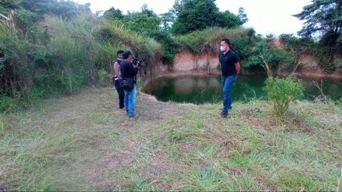 BREAKING NEWS : Dimakan Biawak, Mayat Pria Mengapung di Kolam Talang Kelapa Banyuasin