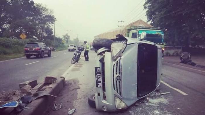 Median Jalan di Km 30 Inderalaya Sebabkan Kecalakaan Tunggal