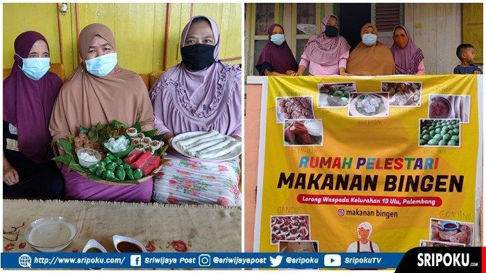 Warga di Kampung 13 Ulu masih tekun membuat kue bingen khas Kota Palembang, Senin (1/3/2021).