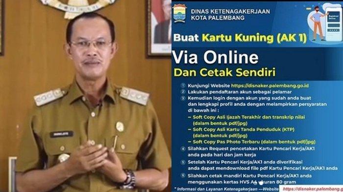 Disnaker Kota Palembang Buka Layanan Pembuatan Kartu Kuning AK1 Via Online, Begini Tata Caranya!