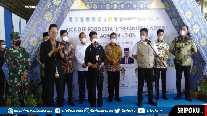 Mentan Kick Off Food Estate 'Petani Bela Negeri' Agrosolution Sumsel, 'Sumsel Bukan Provinsi Biasa'