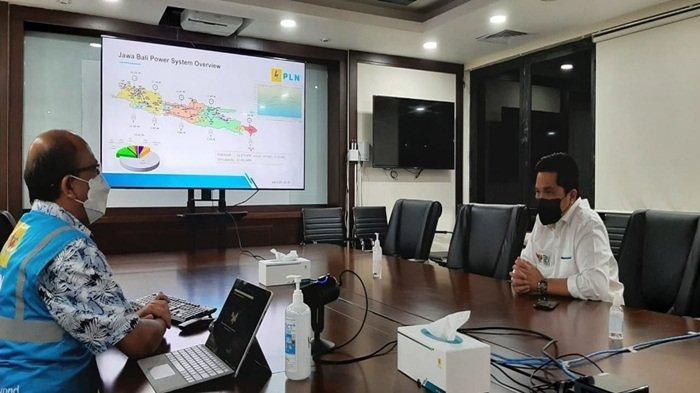 Pastikan Pasokan Listrik Industri Oksigen Aman, Erick Thohir Sidak ke Pusat Pengatur Beban Jamali