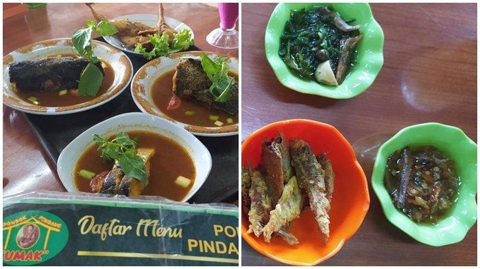 Menu yang tersedia di Pondong Pindang Umak Palembang.