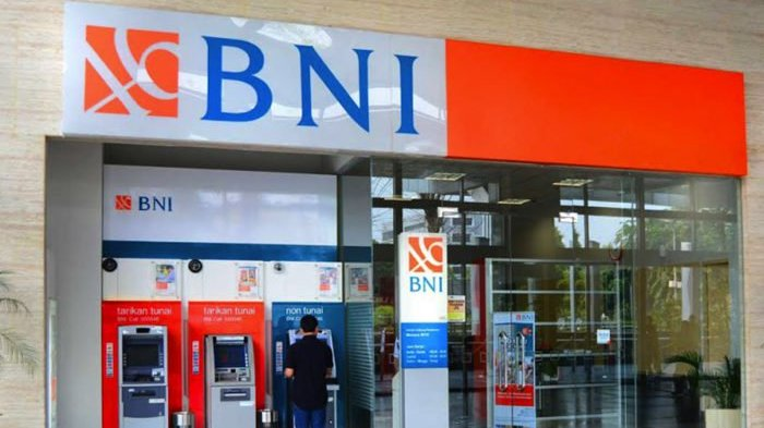 Mesin Anjungan Tunai Mandiri (ATM) Bank BNI.