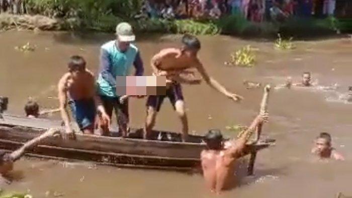 Sandal Ungkap Keberadaan Tubuh Mifta Bocah Empat Tahun Tenggelam di Sungai Komering OKI
