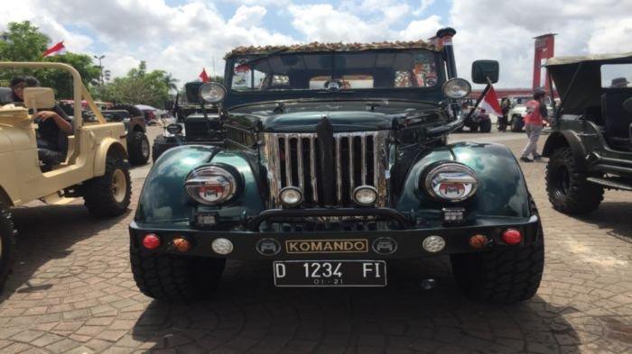 Begini Cara Dua Komunitas Pecinta Mobil Jeep di Kota Palembang Rayakan HUT Ke-75 Kemerdekaan RI