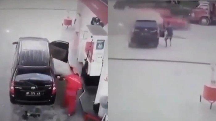 VIRAL Mobil Terbakar saat Isi BBM di SPBU, Aksi Heroik Pengemudi Ini Bikin Tegang, Ini Akhirnya!
