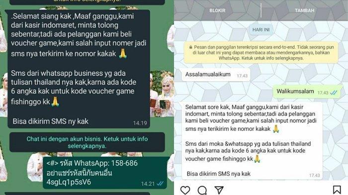Lagi Marak di Palembang, Penipuan Kasir Minimarket Salah Kirim Voucher, Korban tak Bisa Akses WA