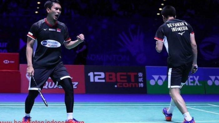 Hasil Bulutangkis New Zealand Open 2019 Final - Jonatan, Ahsan/Hendra Raih Gelar Juara, 1 Runner UP