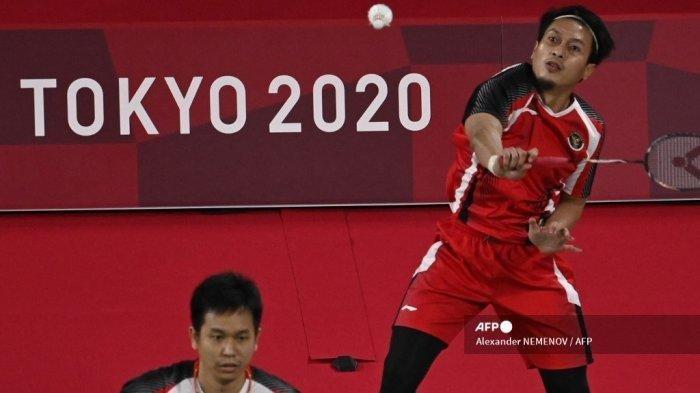 SEBENTAR LAGI, Live Badminton Olimpiade Tokyo 2020: Ahsan/Hendra Berjibaku Rebut Tiket ke Final