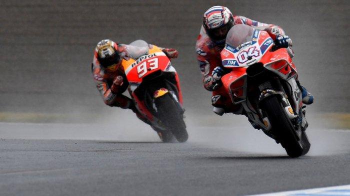 Andrea Dovizioso Pimpin MotoGP Aragon 2018 di Sesi Latihan Pertama, Marquez dan Rossi Tercecer