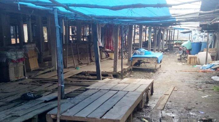 Lockdown Lokal di Desa Muara Telang Kabupaten Banyuasin, Pasar Kalangan Pun Sementara Waktu Ditutup