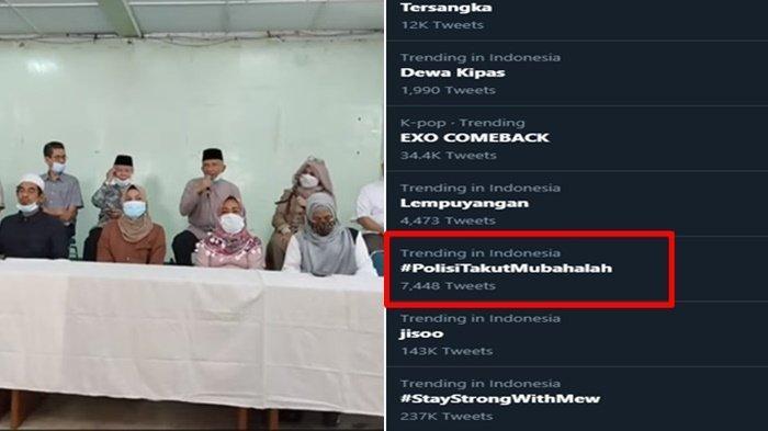 Tagar #PolisiTakutMubahalah Jadi Trending di Twitter, Keluarga 6 Laskar FPI Lakukan Sumpah Mubahalah