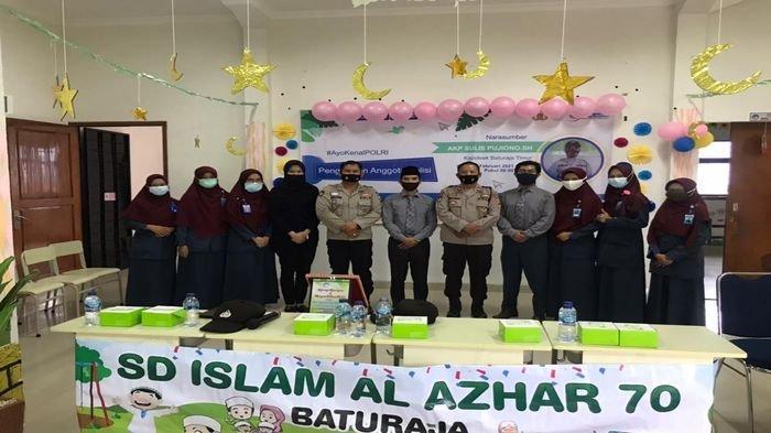 Polsek Baturaja Timur Perkenalkan Tugas Polisi ke Murid SD Islam Al-Azhar 70 Baturaja Via Daring