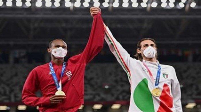 Bikin Terharu, 2 Atlet Beda Negara Ini Raih Emas Bersama di Olimpiade Tokyo 2020, Ini Kisahnya!