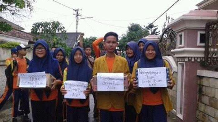 IPM SMP Muhammadiyah 7 Palembang Antusias Kumpulkan Bantuan untuk Korban Gempa di Aceh