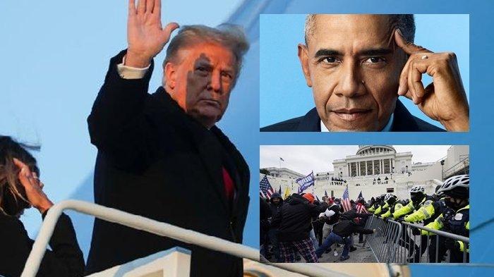 Nasib Donald Trump Diujung Tanduk, Obama Ungkap Kebohongannya Pasca Bentrok di Gedung Capitol AS