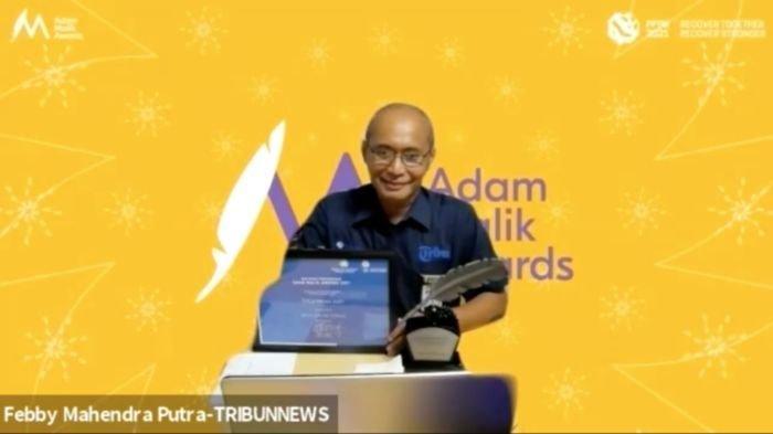 Tribunnews.com Terima Adam Malik Award 2021 dari Kemenlu untuk Kategori Media Online Terbaik