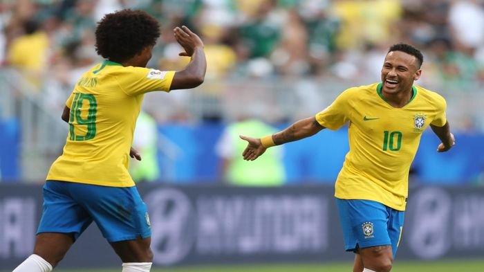 Brasil Terlalu Kuat Bagi Meksiko  di Piala Dunia 2018