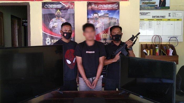 Oknum Satpol PP Muratara Maling TV dan Laptop di Kantor Bupati, Pelaku tak Sadar Terekam CCTV