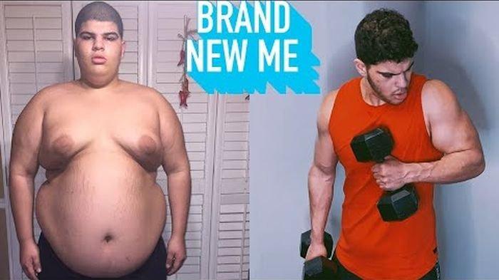 Pria Ini Turun Berat Badan hingga 100 Kilogram dengan Latihan Beban