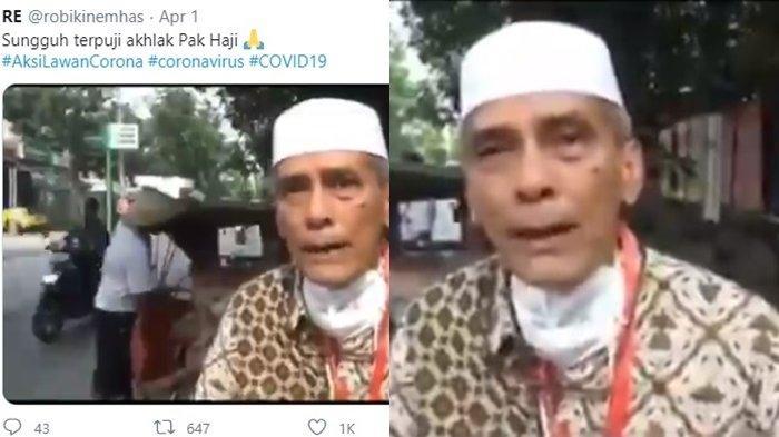 Viral Aksi Mulia Pak Haji Lawan Corona,Turun Tangan Langsung Beri Bantuan Sambil Menangis Ungkap Ini