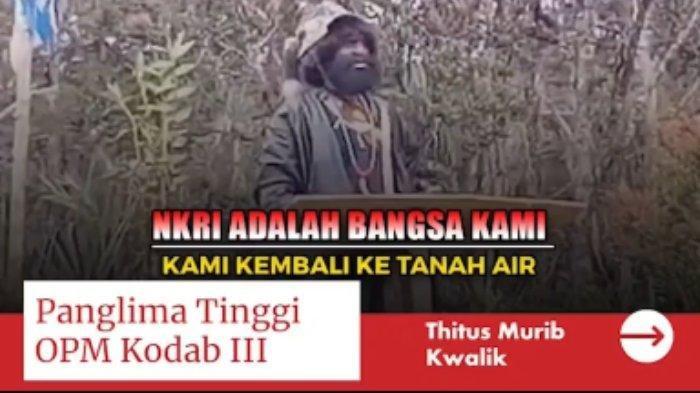 PANGLIMA OPM Serukan KKB Papua Gabung NKRI:'Kita Sudah Ditipu Mentah-mentah'