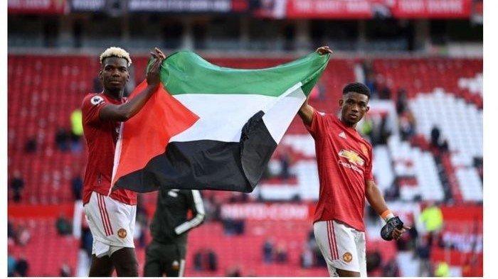 Sikap Pelatih Man United Saat Paul Pogba & Amad Diallo Acungkan Bendera Palestina di Lapangan: Bagus